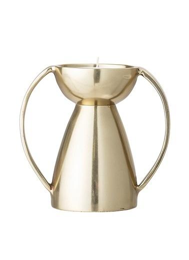 Warm Design Metal Altın Mumluk Altın